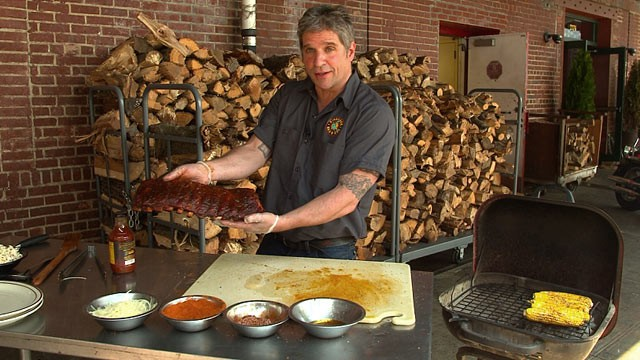 PHOTO: Chef John Stage of Dinosaur Bar-B-Que in New York shares his recipe for ribs.