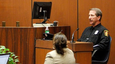 PHOTO: Paramedic Richard Senneff testifies that Murray told him that Jackson wasn't being treated for any specific condition during the Dr. Conrad Murray involuntary manslaughter tria