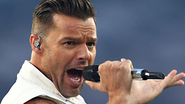 PHOTO: Ricky Martin performs before the 2013 NRL Grand Final match between the Sydney Roosters and the Manly Warringah Sea Eagles at ANZ Stadium, Oct. 6, 2013, in Sydney, Australia.