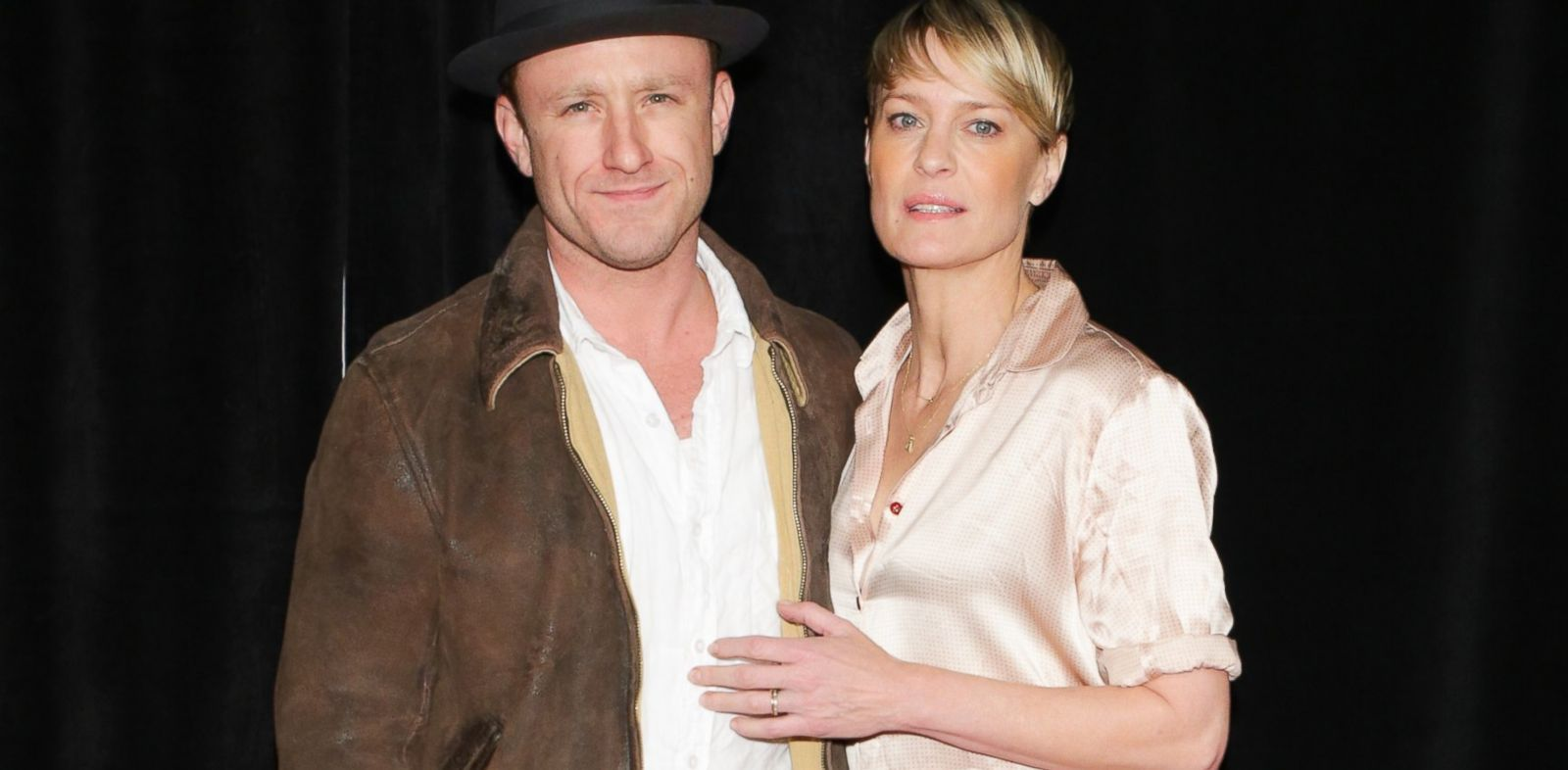 "PHOTO: Actors Ben Foster and Robin Wright attend the ""Lone Survivor"" New York premiere at Ziegfeld Theater, Dec. 3, 2013 in New York City."