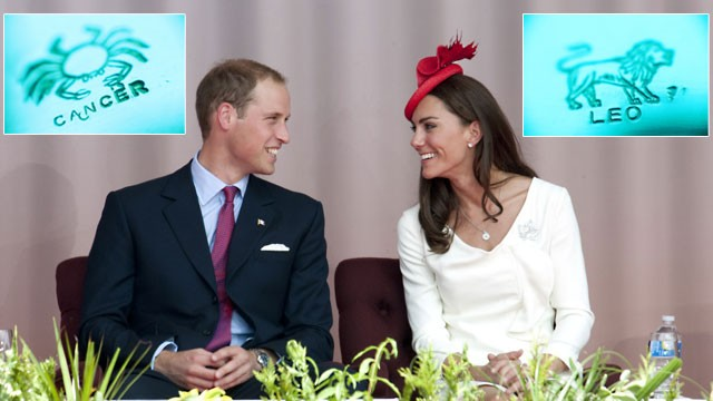 PHOTO: Prince William and Kate Middletons royal baby, due sometime around mid-July, will likely be a Cancer.