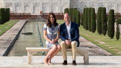 Prince William and Duchess Kate Visit Taj Mahal Before Heading Home