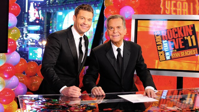 PHOTO: Ryan Seacrest, left, and Dick Clark attend Dick Clark's New Year's Rockin' Eve with Ryan Seacrest 2011 in Times Square, Dec. 31, 2010 in New York City