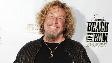 PHOTO: Sammy Hagar arrives the Beach Bar Rum launch at Cabo Wabo Cantina in this Feb. 17, 2012 file photo in Las Vegas, Nevada.