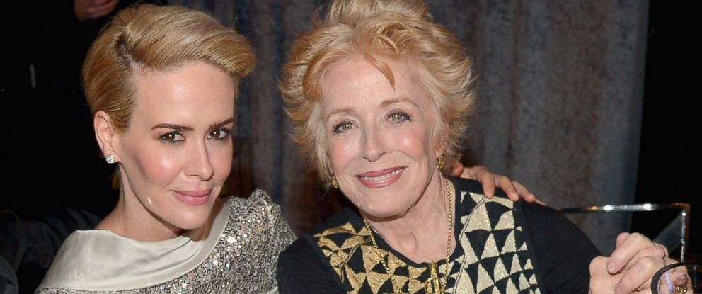 PHOTO: Sarah Paulson and Holland Taylor attend the 21st Annual Critics Choice Awards on Jan. 17, 2016 in Santa Monica, Calif.