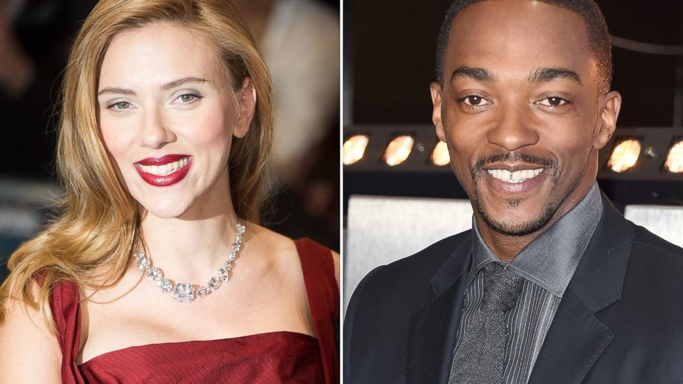 PHOTO: Scarlett Johansson, left, and Anthony Mackie, right, are seen in these March 20, 2014 file photos.