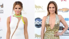 PHOTO: Selena Gomez, left, and Jennifer Lopez arrive at the 2013 Billboard Music Awards at MGM Grand Hotel &amp; Casino, May 19, 2013, in Las Vegas.