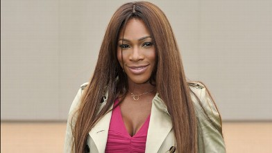 Serena Williams arrives at Burberry Menswear Spring/Summer 2014 at Kensington Gardens, June 18, 2013 in London.