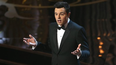 PHOTO: Host Seth MacFarlane speaks onstage during the Oscars held at the Dolby Theatre on February 24, 2013 in Hollywood.