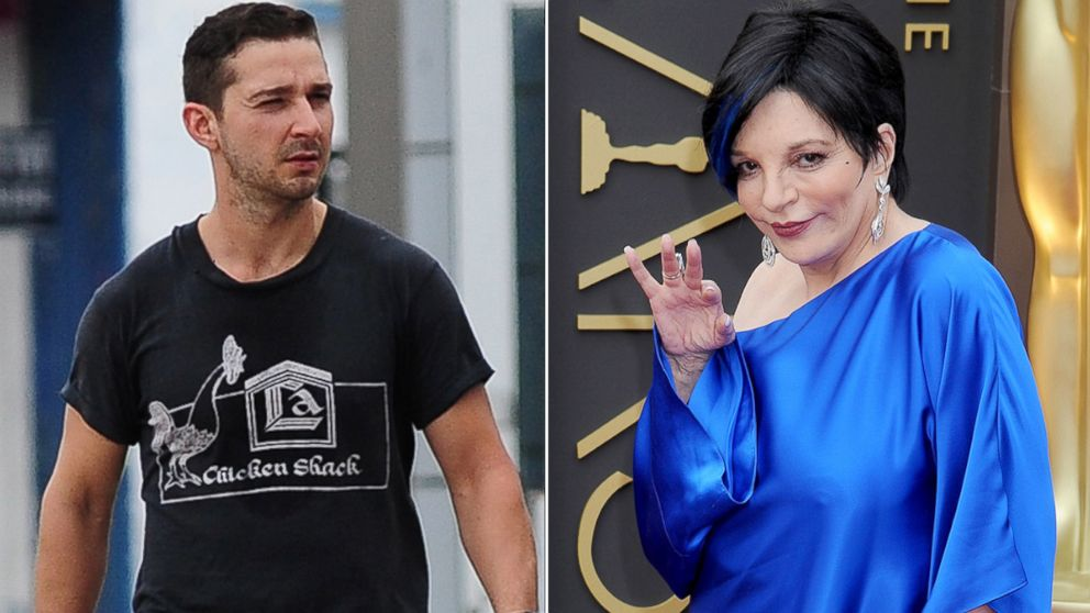 PHOTO: Shia LaBeouf walks in Los Angeles on May 22, 2014 and Liza Minnelli arrives for the Academy Awards on March 2, 2014 in Hollywood, Calif.