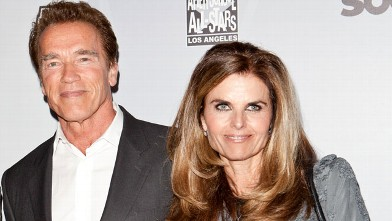 PHOTO: Arnold Schwarzenegger and Maria Shriver arrive at After-School All-Stars Hoop Heroes Salute launch party at Katsuya on February 18, 2011 in Los Angeles, Cali.