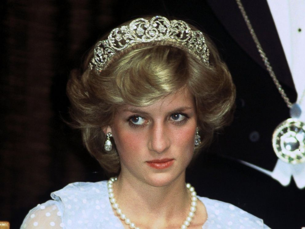 PHOTO Diana Princess of Wales attends a banquet on April 20, 1983 in New