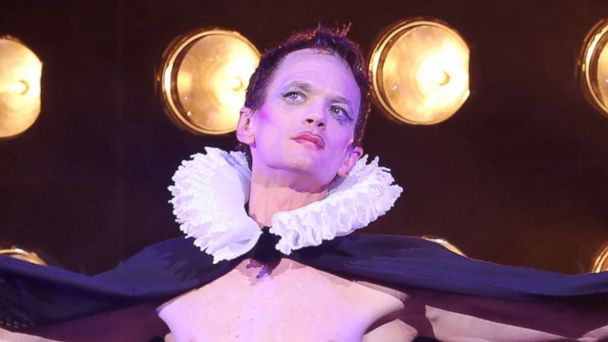 "PHOTO: Neil Patrick Harris takes his curtain call for ""Hedwig and the Angry Inch"" at the Belasco Theatre on April 22, 2014 in New York City."