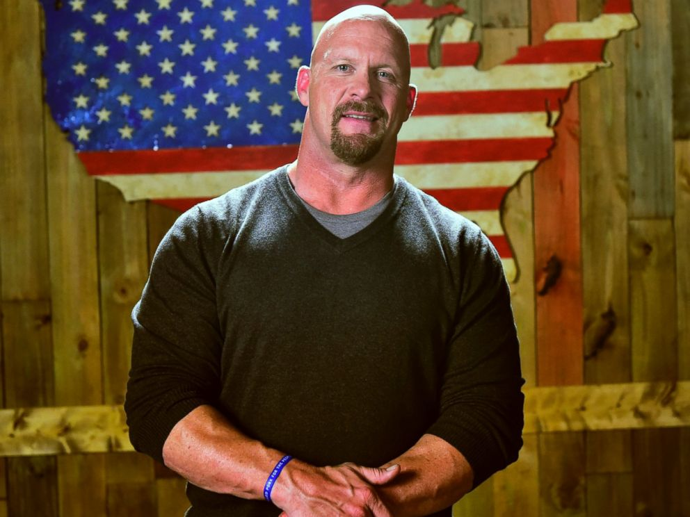 PHOTO: Steve Austin is pictured during filming for a commercial in Atlanta, Ga. on Sept. 29, 2014.