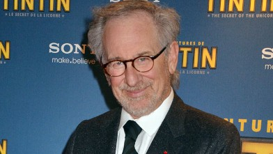 PHOTO: Steven Spielberg attends &quot;The Secret Of The Unicorn&quot; World Premiere in Paris at Le Grand Rex on Oct. 22, 2011 in Paris, France.
