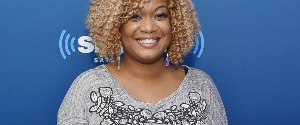 "PHOTO: Sunny Anderson poses for a picture during her visit to SiriusXMs ""Food Talk"" on Oct. 17, 2014 in New York City."