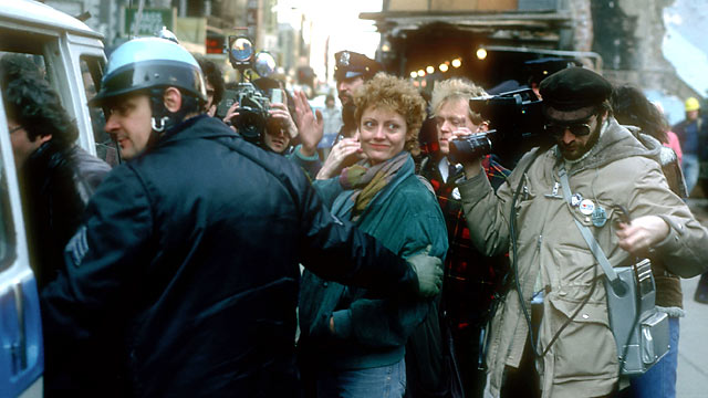 PHOTO: Actress Susan Sarandon gets arrested March 22, 1982 on charges of civil disobedience in New York City.