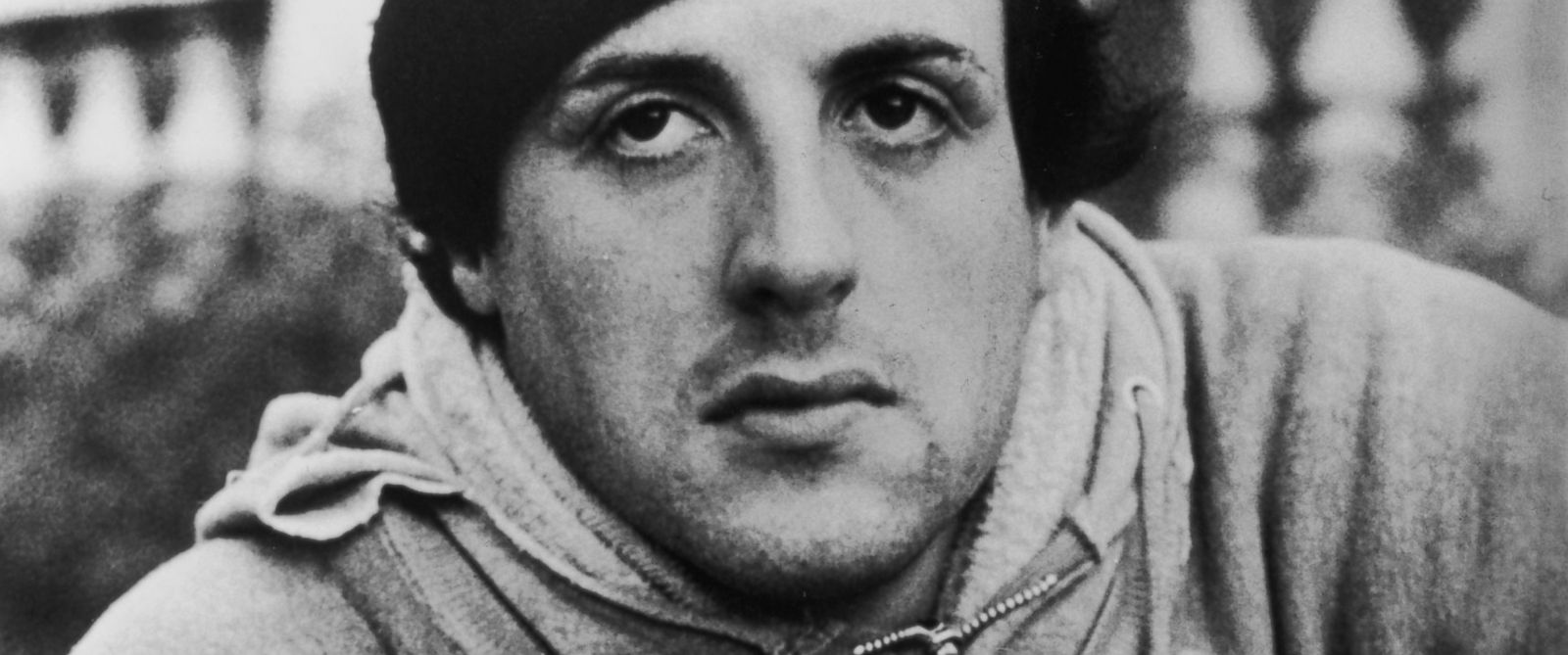 PHOTO: American actor Sylvester Stallone wears a knit hat, sweatshirts ...