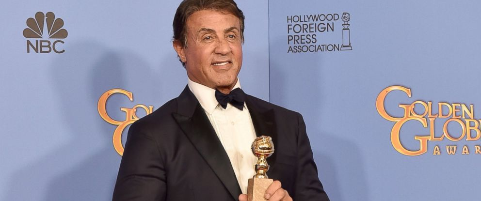 PHOTO: Sylvester Stallone, winner of Best Supporting Performance in a Motion Picture for Creed, poses in the press room during the 73rd Annual Golden Globe Awards held at the Beverly Hilton Hotel on Jan. 10, 2016 in Beverly Hills, Calif.
