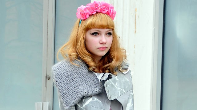 PHOTO: Fashion blogger Tavi Gevinson is seen outside the Rodarte show, Feb. 14, 2012, in New York City.