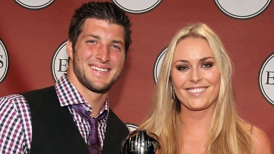 PHOTO: Tim Tebow and ESPY winner of Best Female Athlete Olympic downhill skier Lindsey Vonn attend The 2011 ESPY Awards at Nokia Theatre L.A. Live on July 13, 2011 in Los Angeles, Cali.