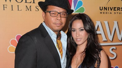 PHOTO: Actor Terrence Howard and wife Michelle Ghent-Howard arrive at the &quot;Law & Order: Los Angeles&quot; Premiere Party at Drai's Hollywood, Sept. 27, 2010 in Hollywood, California.
