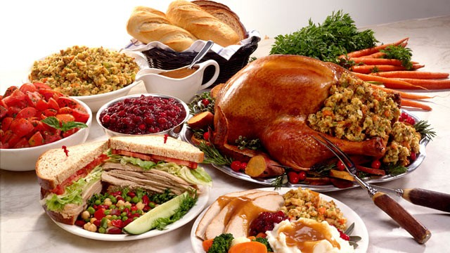 Thanksgiving dinner 2011 why diets fail abc news for What do you eat on thanksgiving list
