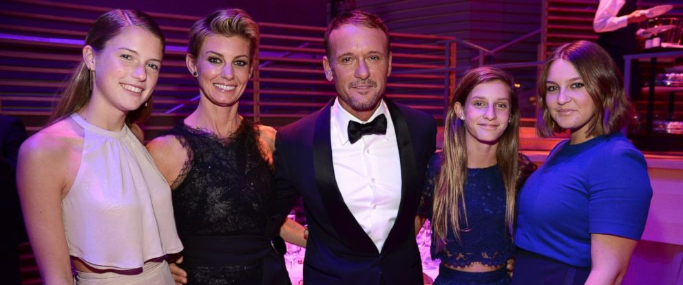 PHOTO: Faith Hill and Tim McGraw attend the TIME 100 Gala at Lincoln Center with daughters Gracie, Audrey and Maggie on April 21, 2015 in New York City.