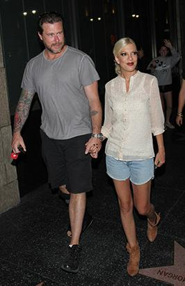 Tori Spelling Takes Her Man on a Date