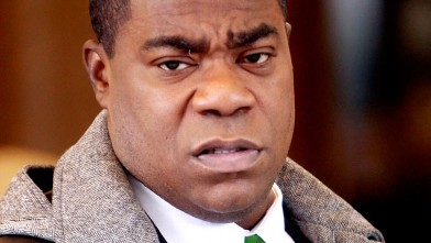 "PHOTO: Tracy Morgan films a scene for ""30 Rock,"" Jan. 16, 2012 in New York City."