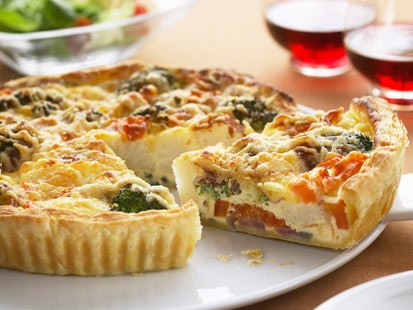 Jennifer Cafferty's gluten free vegetable quiche.