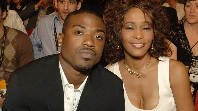 Singers Ray-J and Whitney Houston attend the Hopkins vs. Calzaghe