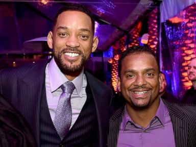 PHOTO: Will Smith and Alfonso Ribeiro pose at the after party for the premiere of Warner Bros. Pictures Focus at the W Hotel on Feb. 24, 2015 in Los Angeles, Calif.