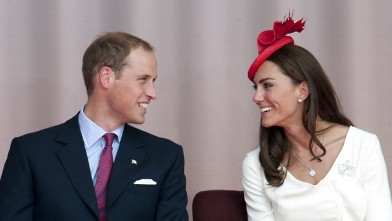 Britain's Prince William and wife Catherine, Duchess of Cambridge, celebrate Canada Day on Parliament Hill in Ottawa, July 1, 2011, during their first official foreign trip as husband and wife.