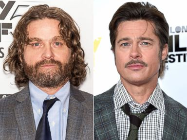PHOTO: Zach Galifianakis at Alice Tully Hall on Oct. 11, 2014 in New York City. | Brad Pitt at Corinthia Hotel London on Oct. 19, 2014 in London, England.
