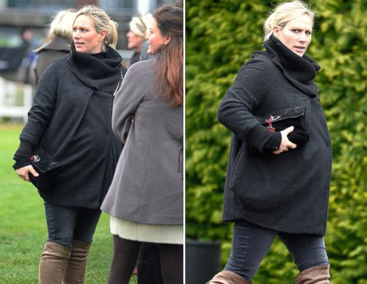 Zara Phillips Looks Ready to Pop
