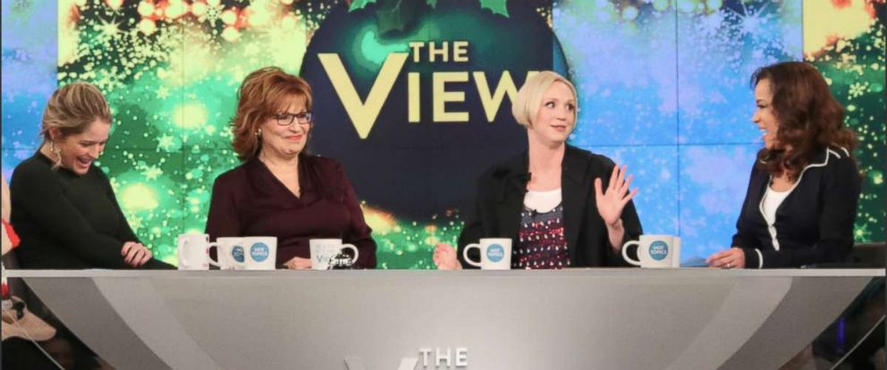 """PHOTO: Gwendoline Christie joined """"The View"""" to discuss a sweet memory she had of Carrie Fisher, the newest """"Star Wars"""" film and more."""