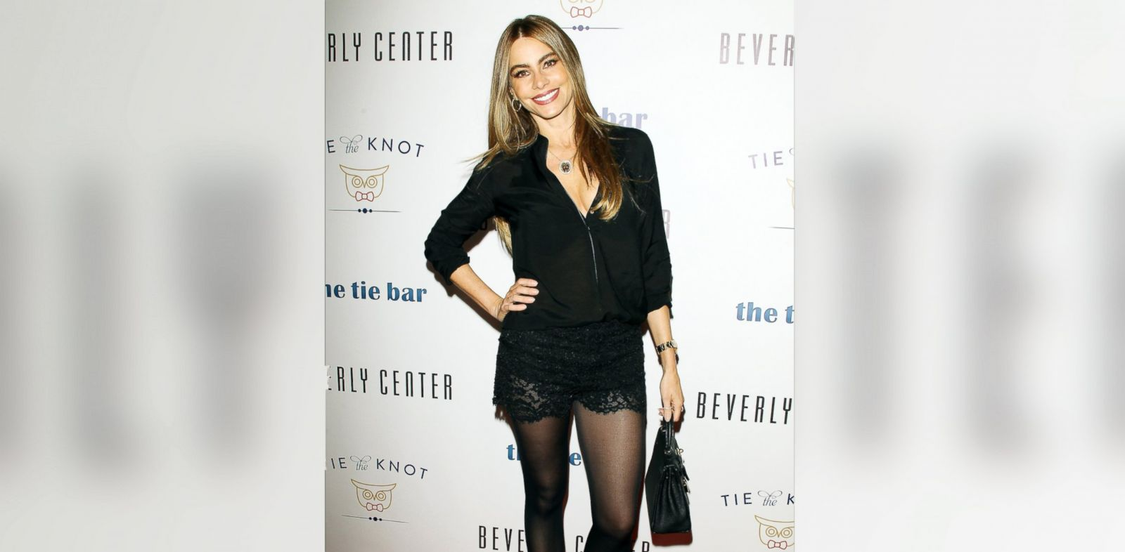 "PHOTO: Sofia Vergara arrives at the ""Tie The Knot"" pop-up store opening held at The Beverly Center on December 5, 2013 in Los Angeles, California."