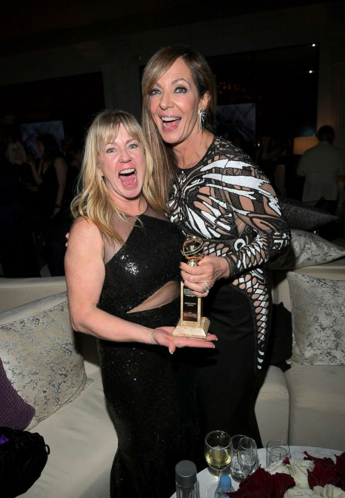 PHOTO: Figure Skater Tonya Harding, left, and Allison Janney attend the 75th annual Golden Globe Awards post party at the Beverly Hilton Hotel, Jan. 7, 2018, in Beverly Hills, Calif.