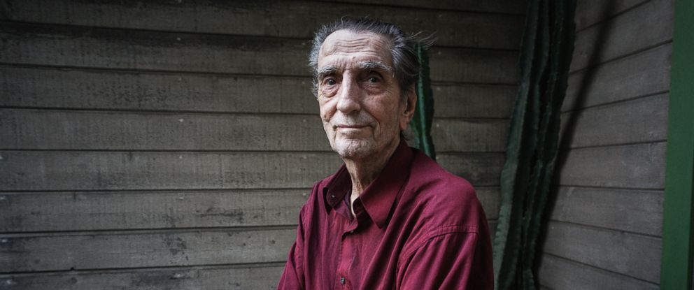 PHOTO: Actor Harry Dean Stanton stands outside of his home, Feb. 23, 2015, in Los Angeles.