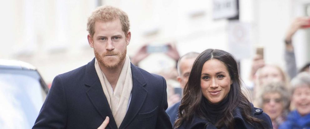 PHOTO: Prince Harry and his fiancee, Meghan Markle, visit Nottingham for their first official public engagement together, Dec. 1, 2017, in Nottingham, England.