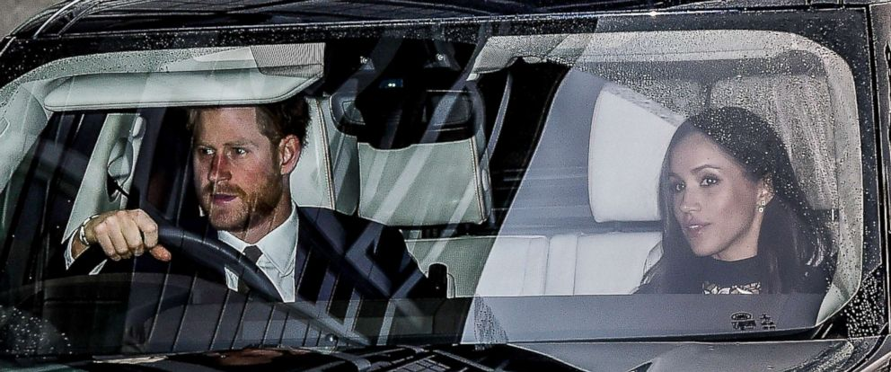'PHOTO:Prince Harry and Meghan Markle leave Kensington Palace for the Royal Christmas lunch1_b@b_1Buckingham Palace, London, Dec. 20, 2017.' from the web at 'http://a.abcnews.com/images/Entertainment/harry-markle2-pol-ml-171220_12x5_992.jpg'
