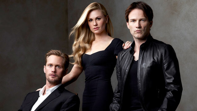 PHOTO: True Blood Season 4 cast members, Alexander Skarsgard, Anna Paquin, and Stephen Moyer.