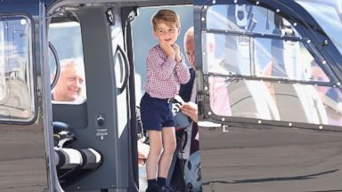 Prince George steals the show as royals depart Germany