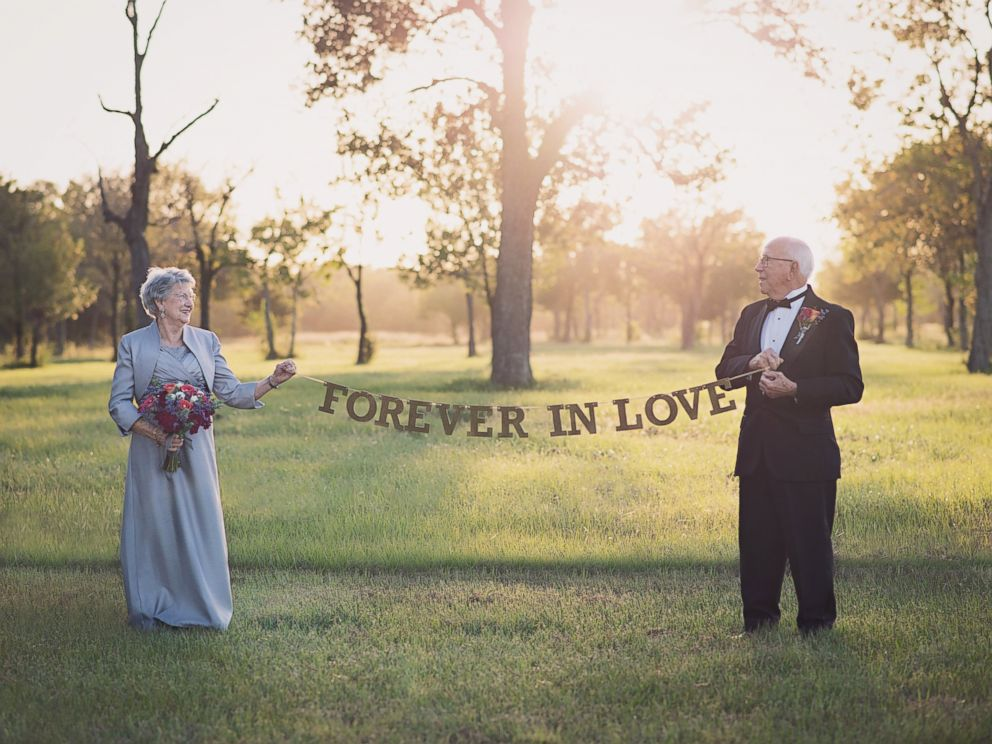 PHOTO: Ferris and Margaret Romaire, of Morgan City, Louisiana, marked their 70th wedding anniversary with a photo shoot.