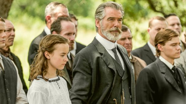 PHOTO: Pierce Brosnan as Eli McCullough and Sydney Lucas as Jeannie McCullough star in the first season of