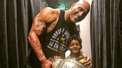 The Rock meets the young star of Lion