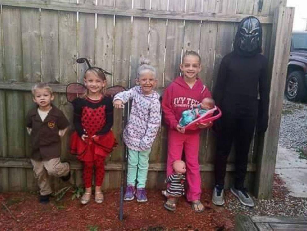 Lainie Griffin saat pesta Halloween