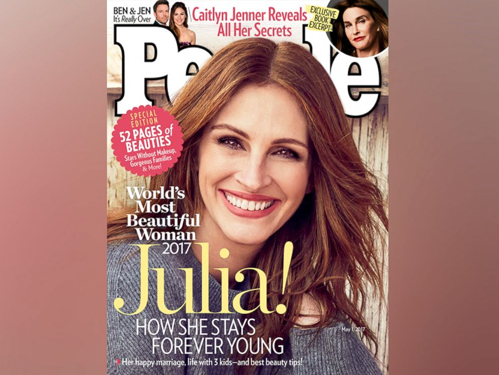 PHOTO: Julia Roberts is People magazines Most Beautiful woman of 2017.