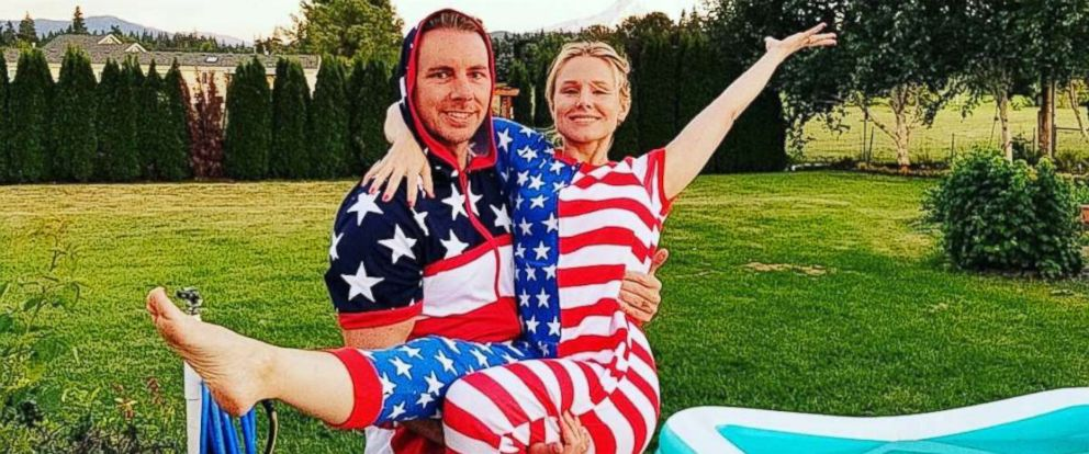 PHOTO: Kristen Bell shared this photo with Dax Shepard to Instagram, July 4, 2017.